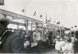Liberty Loan Train during World War I Registration Day event in Banning, California