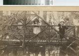 Irene and Walter Coffin on a bridge over Cascade Creek