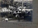 Laying Cornerstone of South Pasadena's Carnegie Library, September 28, 1907