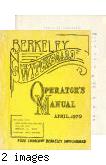 Berkeley Switchboard Operator's Manual, April 1970