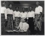 Alfred Wallenstein with Gamelan ensemble in Singapore