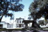 South Pasadena's Meridian Iron Works Building and Watering Trough and Wayside Station, about 1970