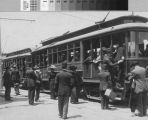 [Photograph of East Shore and Suburban Railway Company streetcars]