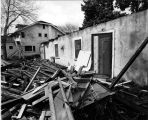 Photograph of Ontiveros Adobe being demolished