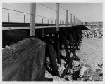 Railroad bridge near Dos Cabezos and dry wash in Anza Borrego Desert State Park, San Diego County, CA