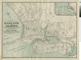 Map of Oakland and Alameda [cartographic material] / Woodward & Taggart, Agents for the purchase, sale and appraisal and care of real estate ; M G. King, surveyor.