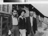 Photograph of Adachi family in Japanese Relocation Center