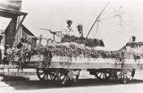 Paul Kurokawa and unknown person, Palm Street, San Luis Obispo : Fourth of July Float : 1918.