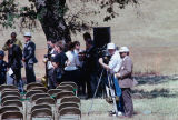 Video crew filming the Contra Costa Campus groundbreaking