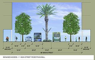 Managed Access Street - Main Street Pedestrian Mall