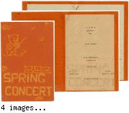 Spring Concert program 1943