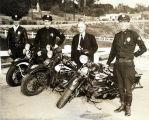 South Pasadena Police with Motorcyles, ca 1940