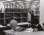 Photograph of the interior of the University Library in the Periodicals section.