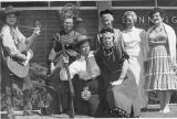 Banning Public Library staff posing in Stagecoach Days costumes