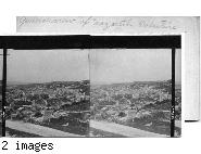 general view of Nazareth, Palestine.