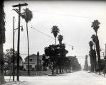 Spruce Street at Marengo, Looking West, South Pasadena, 1950s