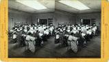 Eadweard Muybridge stereoscopic photograph of Mills College class