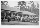 Photograph of Pebble Beach Lodge With Automobiles and Horses