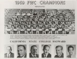 Photograph of the Cal State, Hayward 1969 football team