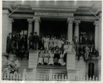 1911 class picture on school house steps