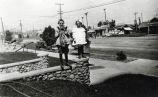 Marsh Children on Fair Oaks, about 1910