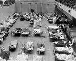 1918 flu epidemic [picture] : the Oakland Municipal Auditorium in use as a temporary 			hospital.
