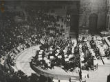 Photograph of the Los Angeles Philharmonic in performance at the Odeon of Herod Atticus Amphitheater in Athens