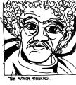 """Drawing of Richard York: """"Author Thinking"""""""