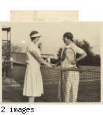Corinne Henry with Helen Wills Moody