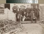 Railroad workmen at the hotel on Mount Tamalpais