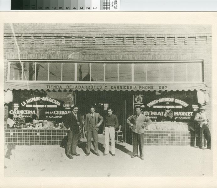 Tienda De Abarrotes. [Photograph of La Hispano-Americana Tienda de Abarrotes y Carniceria A]