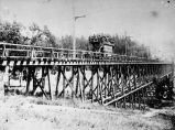 Close view of double-deck car on the old Trestle Glen railroad [picture].