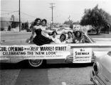 "Market St. Reopening Parade, ""Miss Sidewalk Superintendent"""