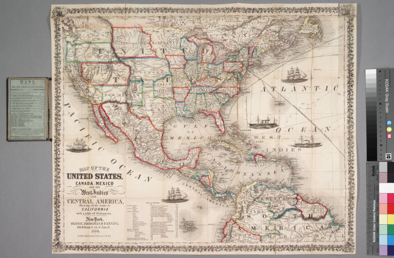 Map Of The United States Canada Mexico And The West Indies With - Map of us and central america