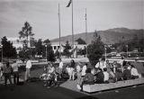 Students in campus quad, Citrus College, 1980s