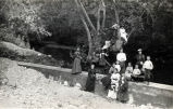 Picnic Group at Arroyo Seco Dam, about 1890