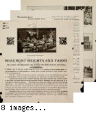 Beaumont Heights and Farms Company development, advertisement brochure, dating to approximately 1908.
