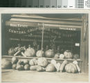 A display of melon abundance in Turlock, California, circa 1910.
