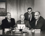 Dr. Wallace Hall and other administrators of West Valley Junior College