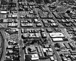 Aerial view of Inglewood, California looking east