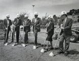 Photograph of the Pioneer Heights Groundbreaking Ceremony attended by President Ellis E. McCune