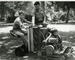 Upland Photograph Memorial Park lawn mower