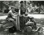 Upland Photograph Memorial Park lawn mower