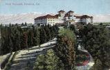 Postcard: Second Raymond Hotel in Winter