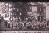 First school, 1912, Central Ave., La Habra, Calif.