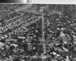 Aerial view of Grandview Avenue and Brand Library