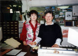 Ruth Stout and Dolores Gomez at the Brisbane Library