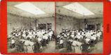 Eadweard Muybridge stereoscopic photograph of art class