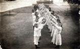 Children's Hoop Drill at Center Street School, 1890