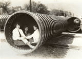 Girls in a pipe